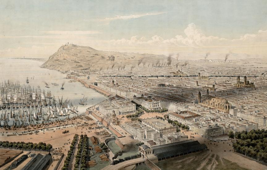 Vista de Barcelona a finales del siglo XIX